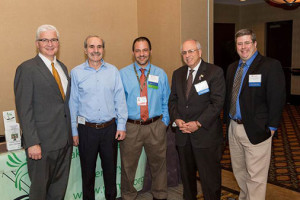 Left to Right: Dr. Arnold M. Baskies, MD, FACS , Neil Spiegler, PSMRF, Dr. Lerman and Michael A. Davies, MD, PhD